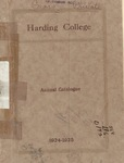 Harding College Course Catalog 1924-1925