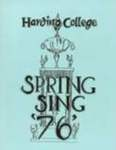 Harding College Spring Sing Program 1976