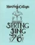 Harding College Spring Sing Program 1976
