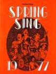 Harding College Spring Sing Program 1977