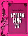 Harding College Spring Sing Program 1979