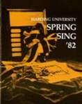 Harding University Spring Sing Program 1982