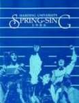 Harding University Spring Sing Program 1986