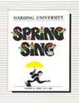 Harding University Spring Sing Program 1988