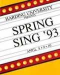 Harding University Spring Sing Program 1993