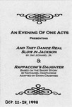 An Evening of One Acts (1998 program)